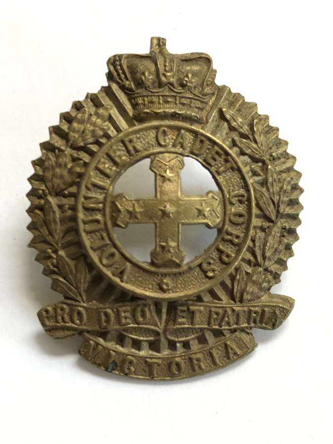 Australian. Victoria Volunteer Cadet Corps Victorian head-dress badge