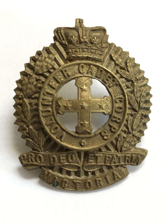 Australian. Victoria Volunteer Cadet Corps Victorian head-dress badge