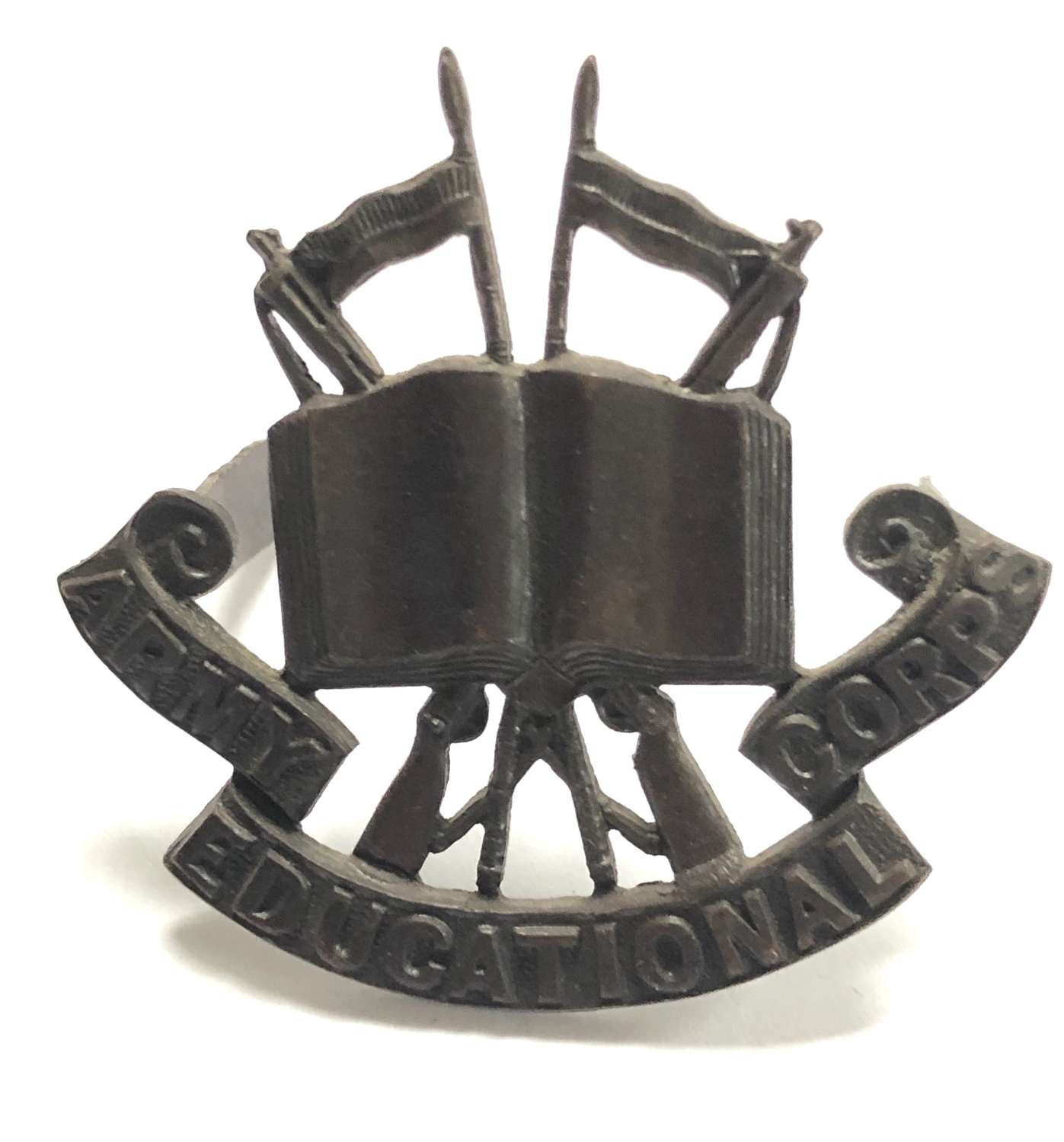 Army Educational Corps Officer's OSD cap badge circa 1920-46