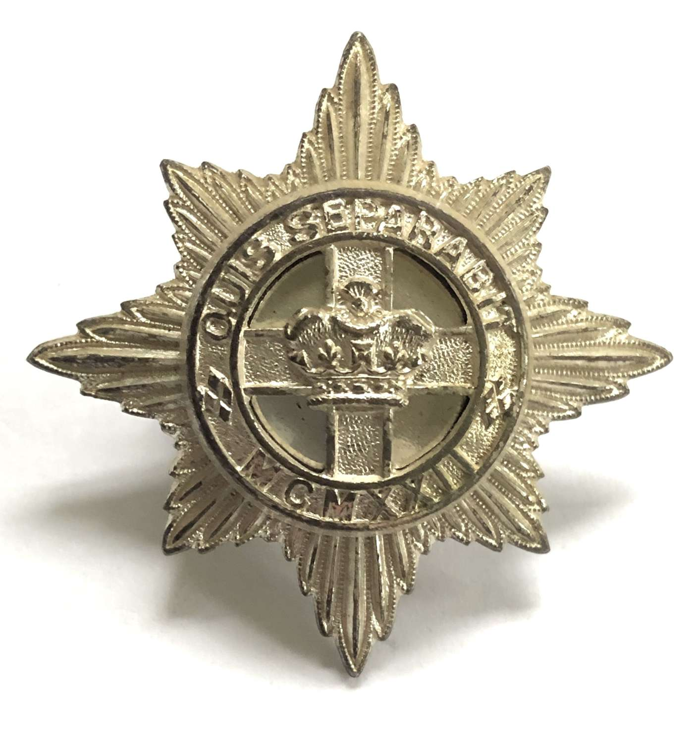 4th/7th Royal Dragoon Guards Officer's silvered cap badge