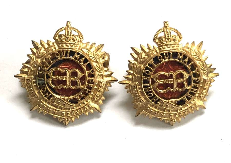 Royal Army Service Corps 1936 EVIIIR Officer's collar badges by Gaun