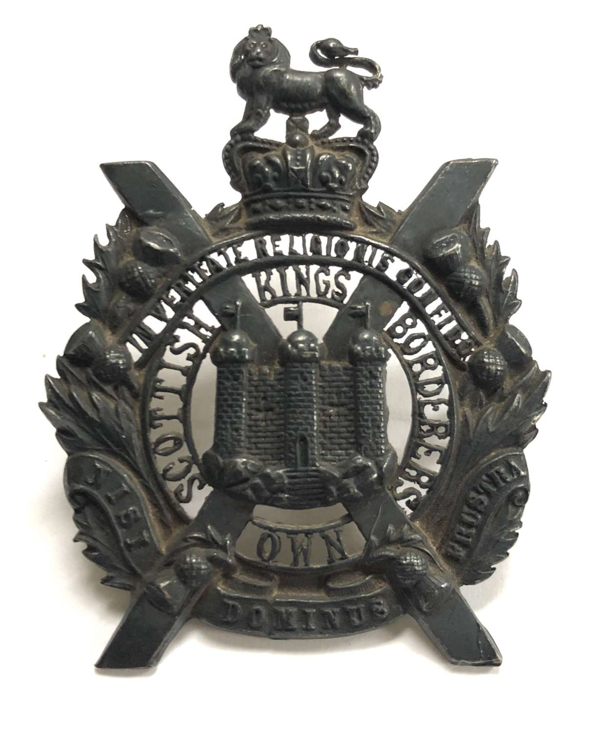 King's Own Scottish Borderers post 1953 Officer's glengarry badge