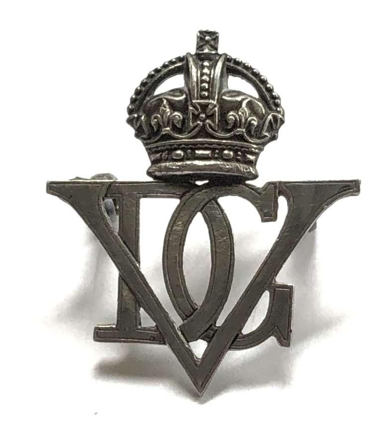 5th Royal Inniskilling Dragoon Guards Officer's silver cap badge