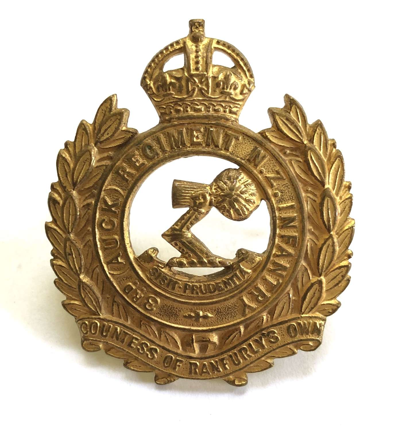 3rd Auckland Regiment of NZ Infantry Officer's cap badge c1912-21