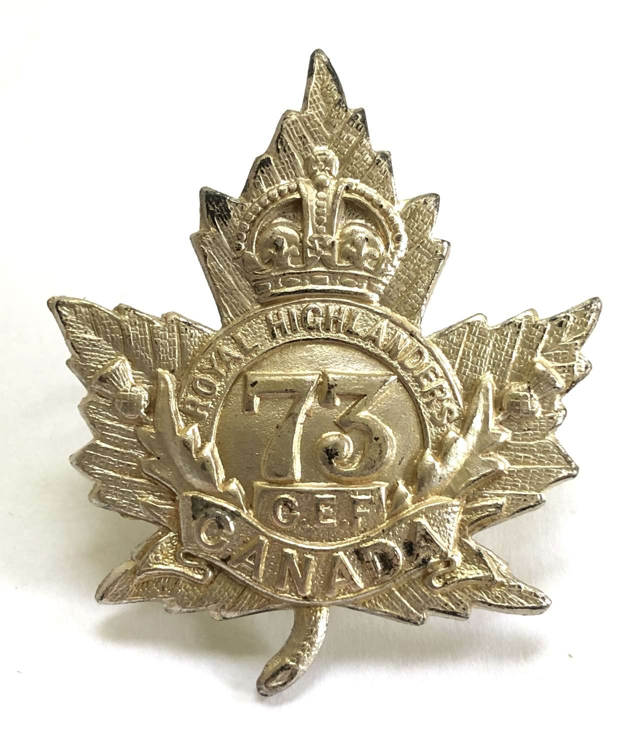 Canadian 73rd (Black Watch) Bn.  CEF WW1 cap badge