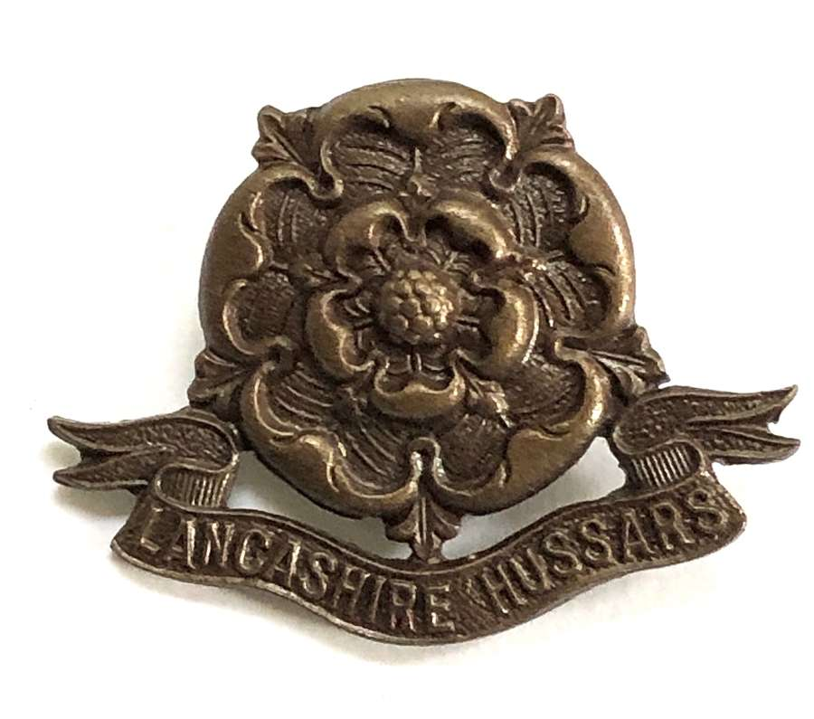 Lancashire Hussars OSD Field Service cap badge by Firmin, London