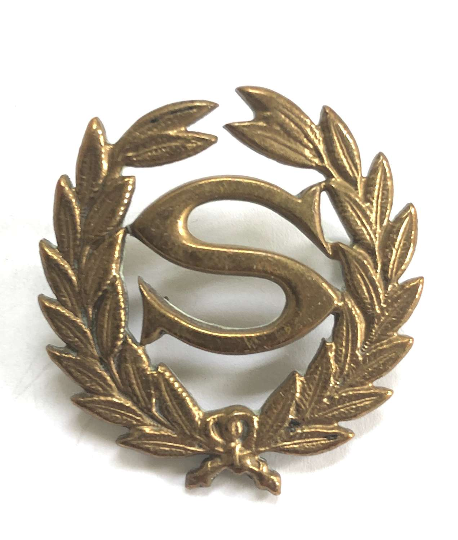 Army Scout pre WW1 brass proficiency arm badge worn in India