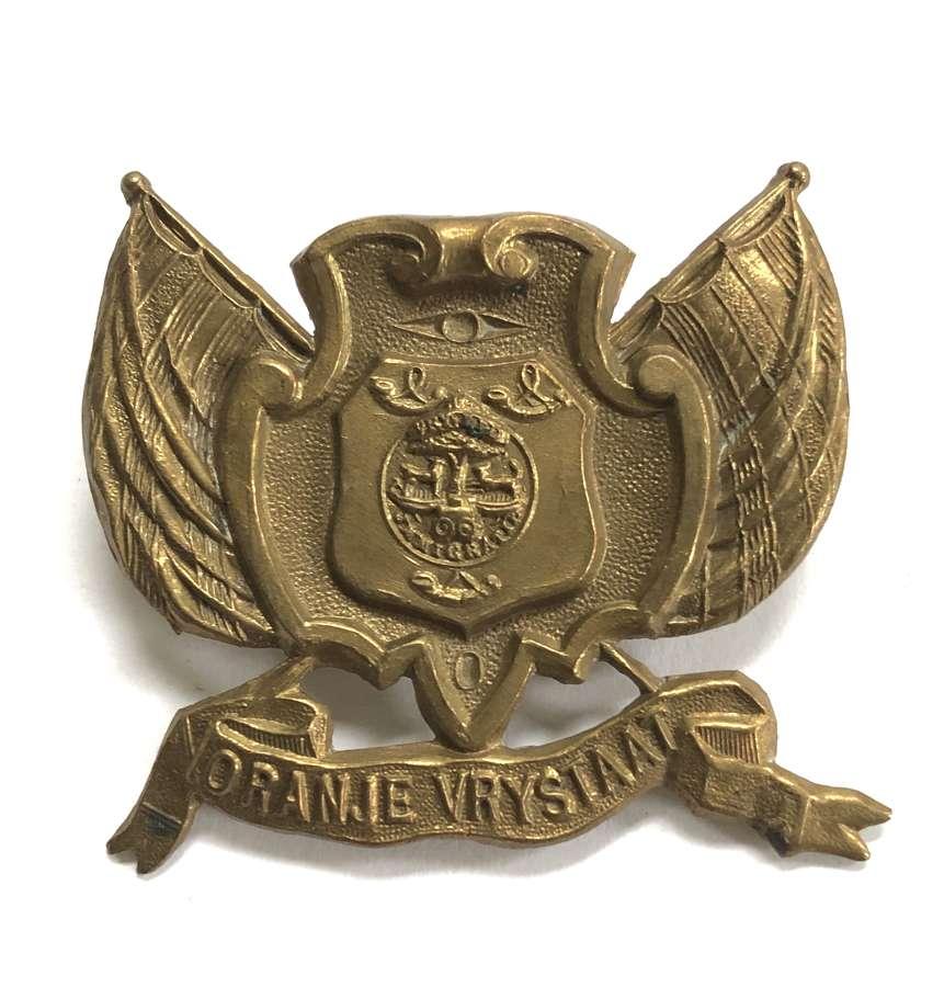 South Africa Boer War Orange Free States Artillery slouch hat badge