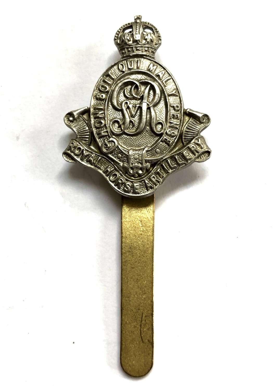 Royal Horse Artillery GvR OR's cap badge