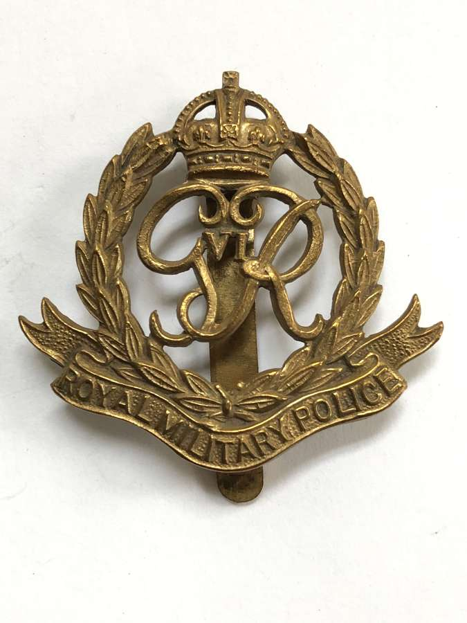 Royal Military Police OR's cap badge circa 1946-52 by Gaunt, London