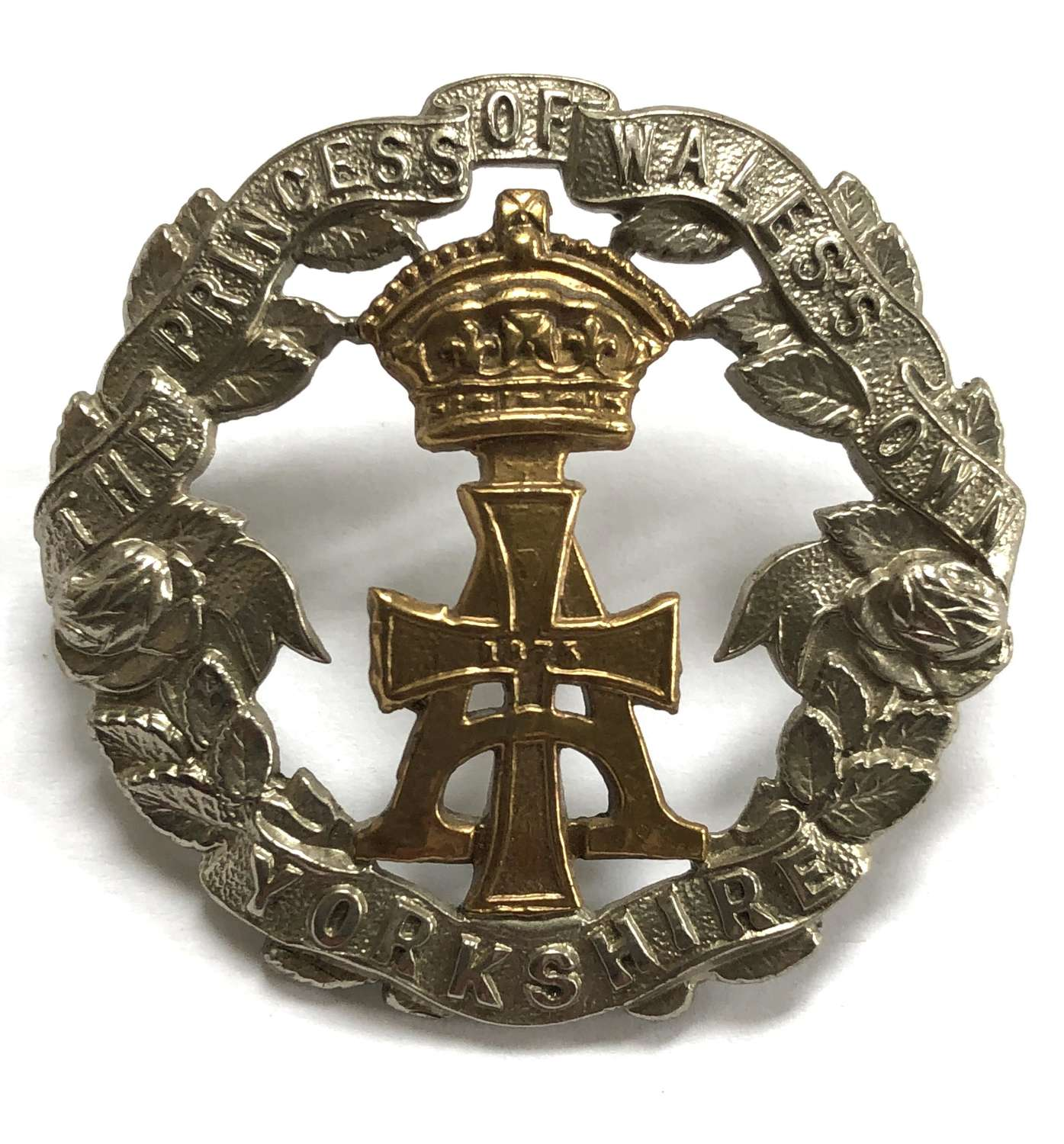 Yorkshire Regiment Victorian/Edwardian pre 1908 OR's cap badge