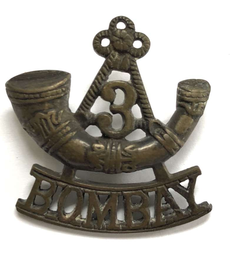 Indian Army 3rd Bombay Light Infantry pre 1903 shoulder title