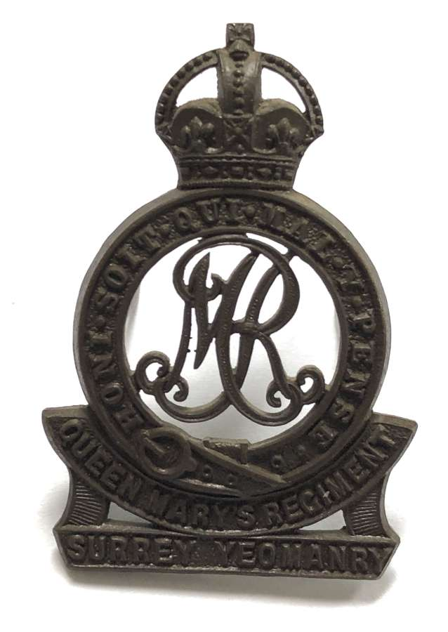 Surrey Yeomanry (Queen Mary's Regiment) OSD cap badge