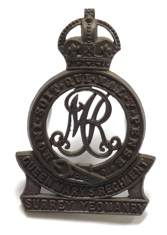 Surrey Yeomanry (Queen Mary's Regiment) OSD cap badge