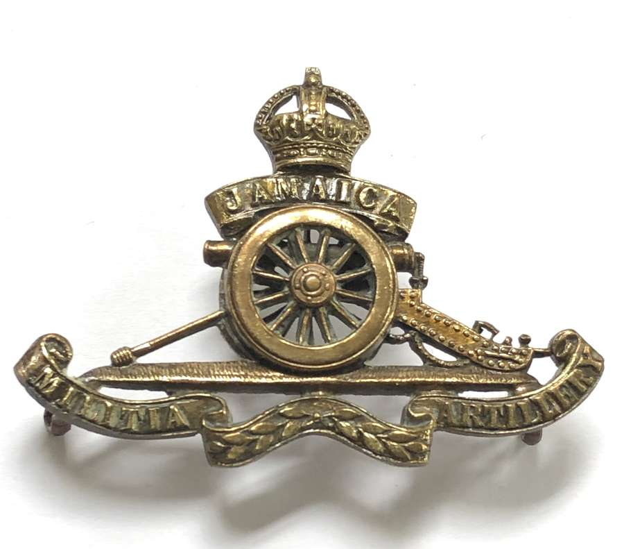 Jamaica Militia Artillery OSD cap badge by Gaunt
