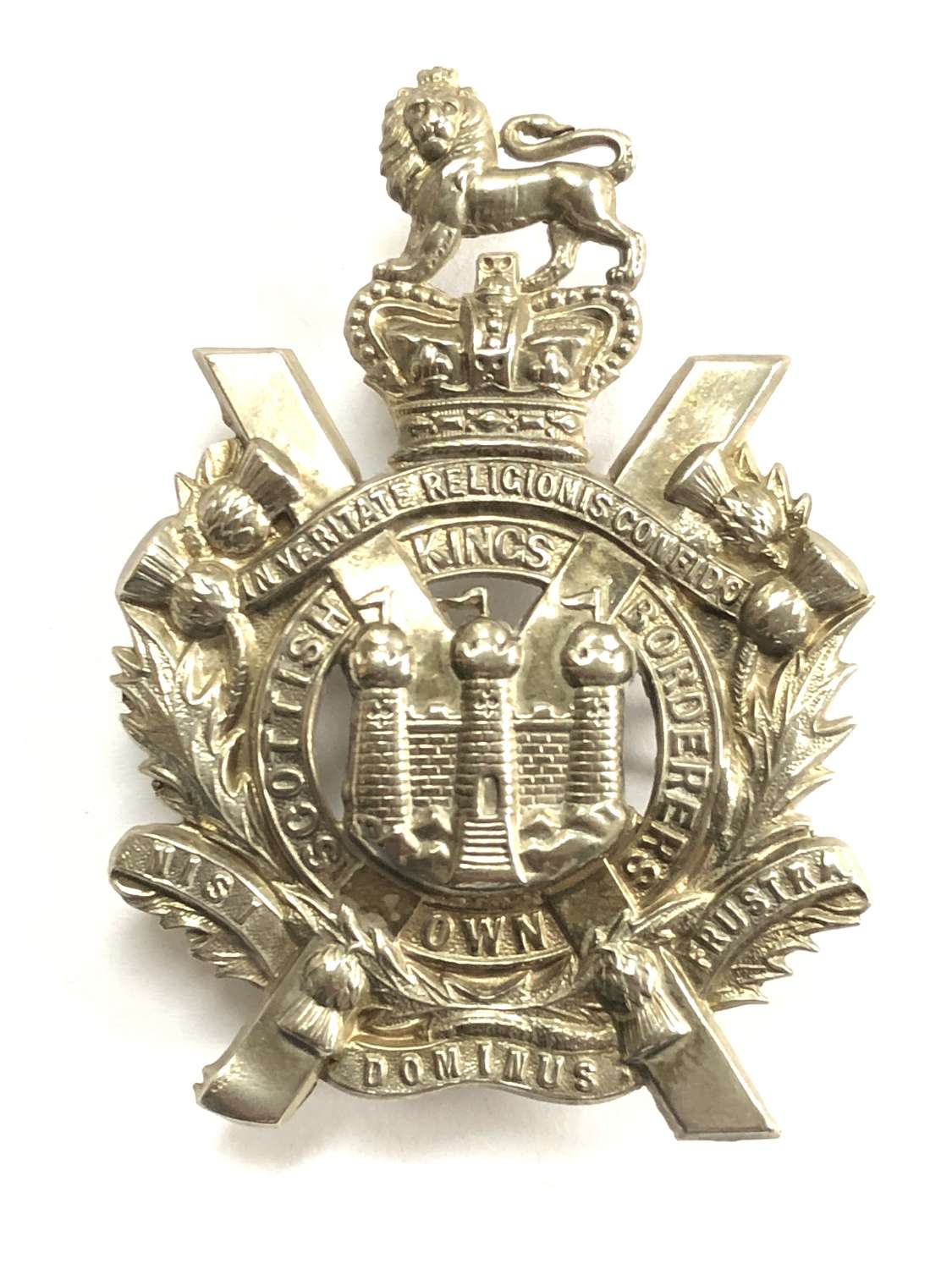 King's Own Scottish Borderers  Victorian glengarry badge by Gaunt