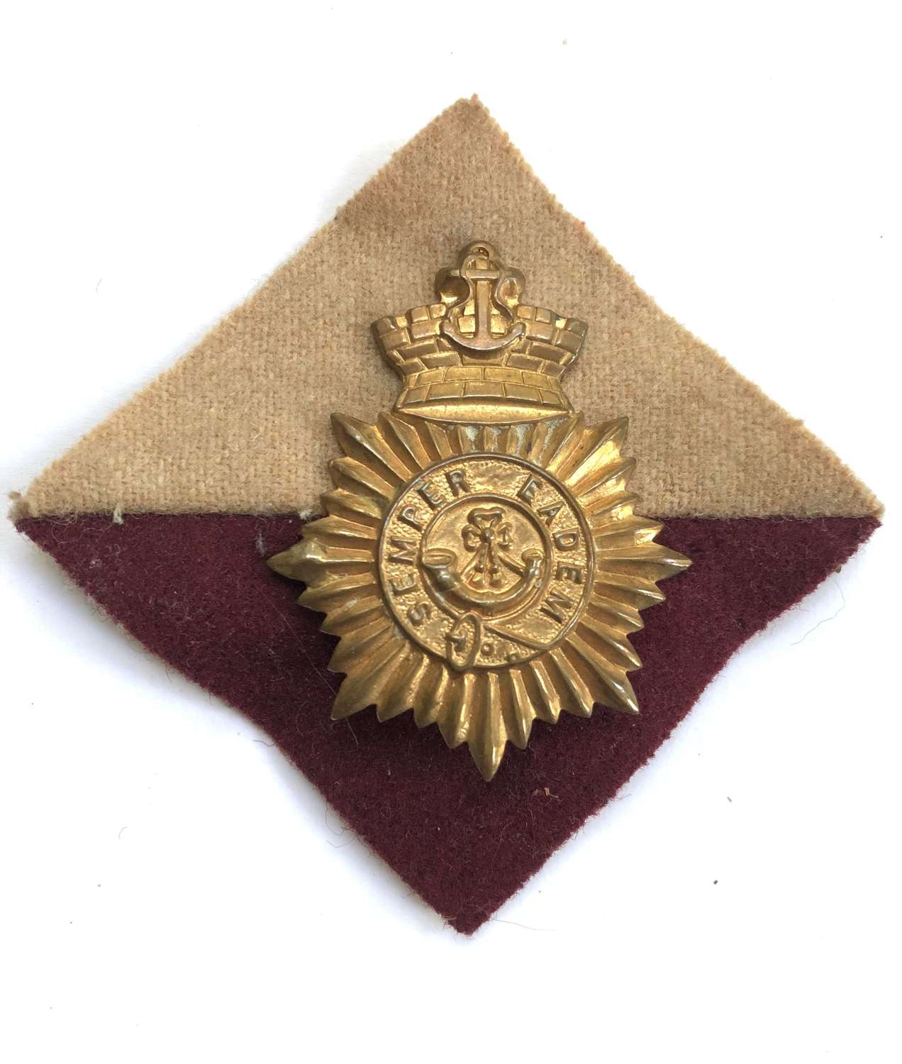 South African Cape Town Rifles badge on pagri flash