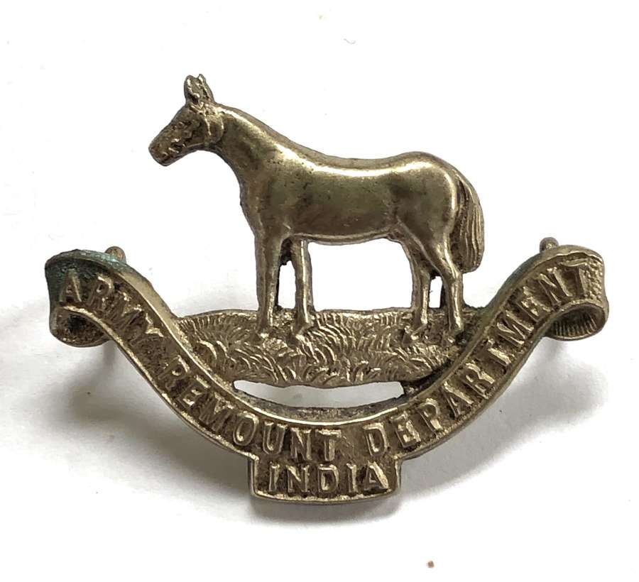Army Remount Department India Officer's cap badge by J.R. Gaunt.