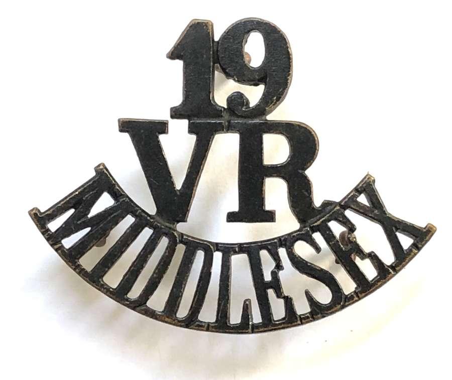 19 / VR / MIDDLESEX scarce Bloomsbury shoulder title