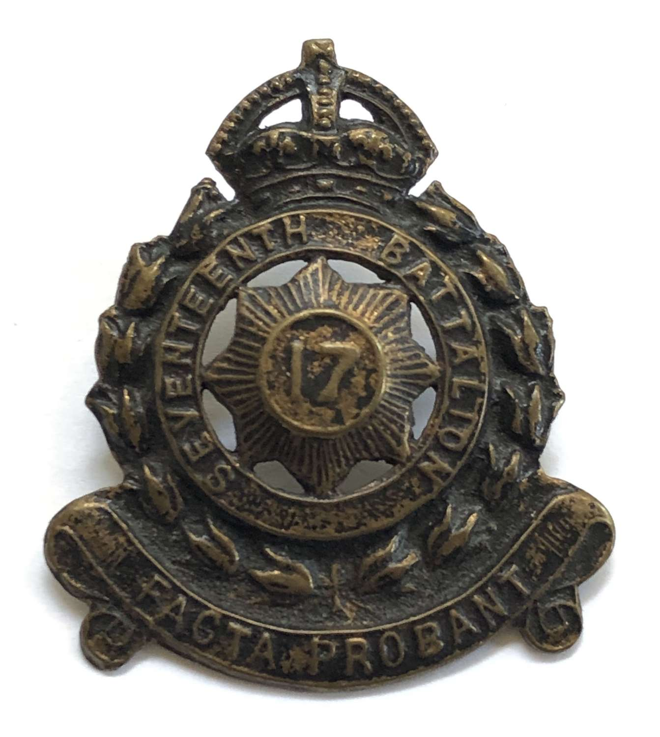 Australian 17th Infantry Bn (North Syney Regt) slouch hat badge