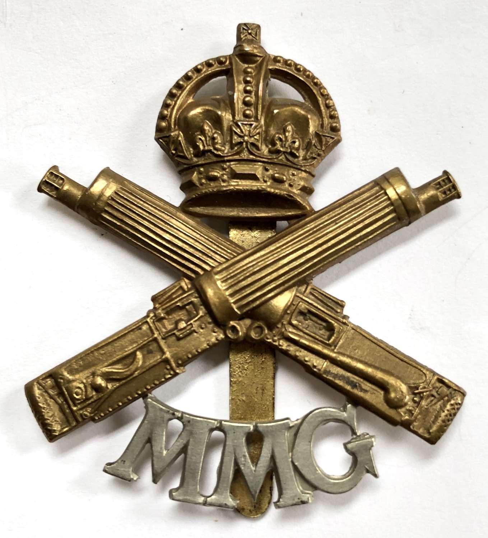 Motor Machine Gun WW1 OR's bi-metal cap badge
