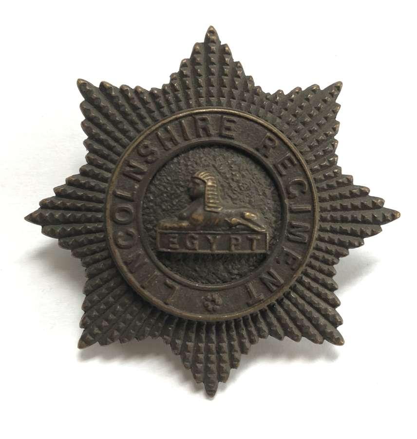 Lincolnshire Regiment post 1902 large OSD cap badge