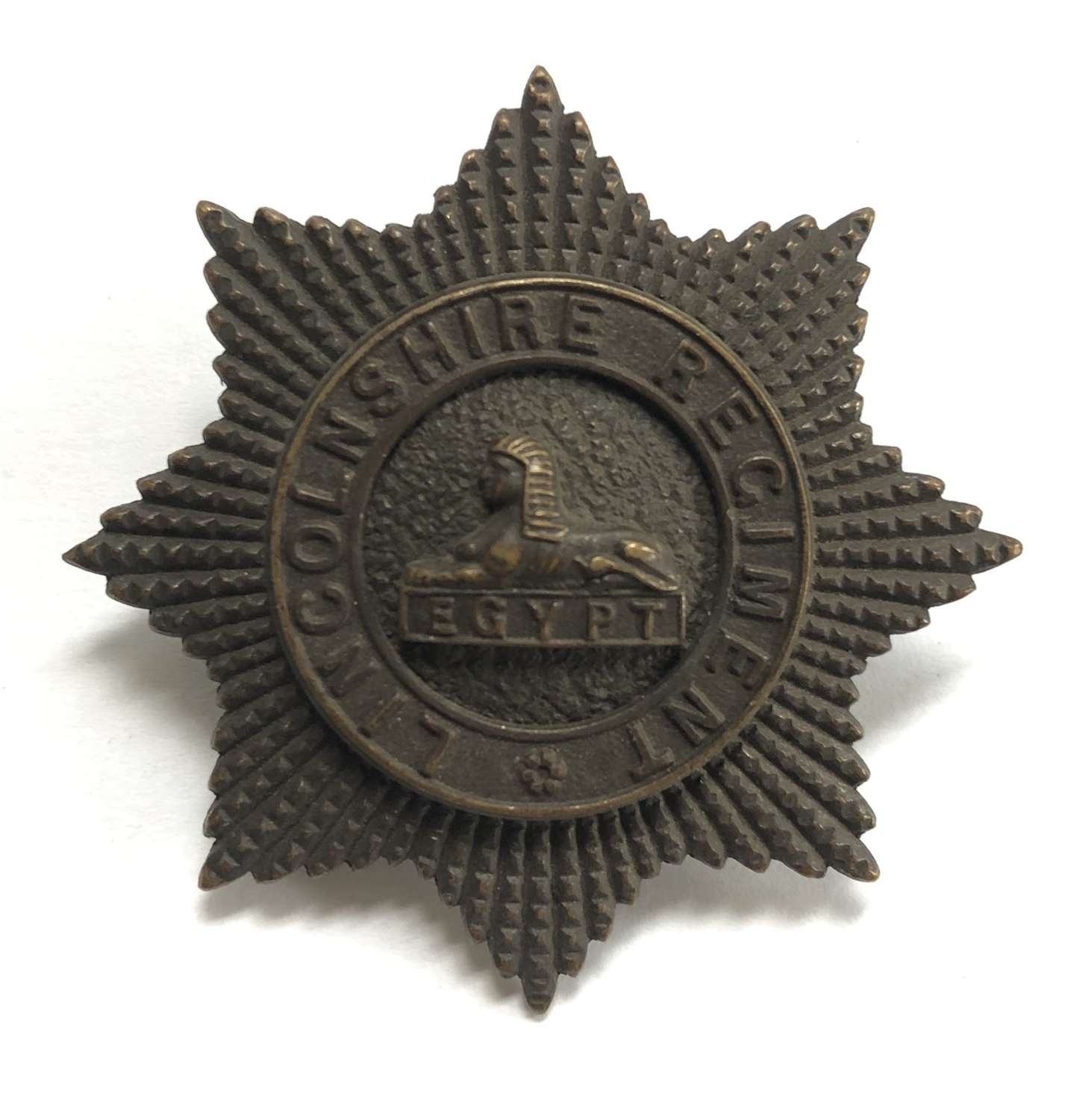 Lincolnshire Regiment post 1902 large OSD cap badge