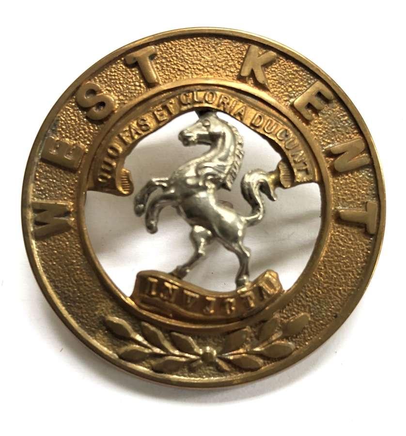 Royal West Kent Regiment helmet plate centre circa 1881-1914