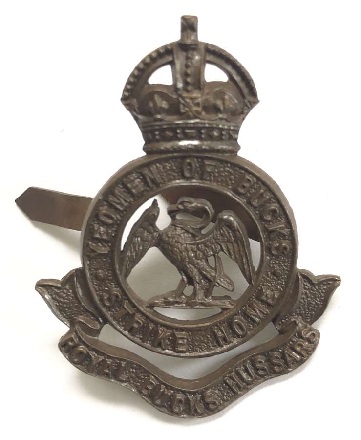 Royal Bucks Hussars post 1902 Officer's OSD cap badge by Gaunt
