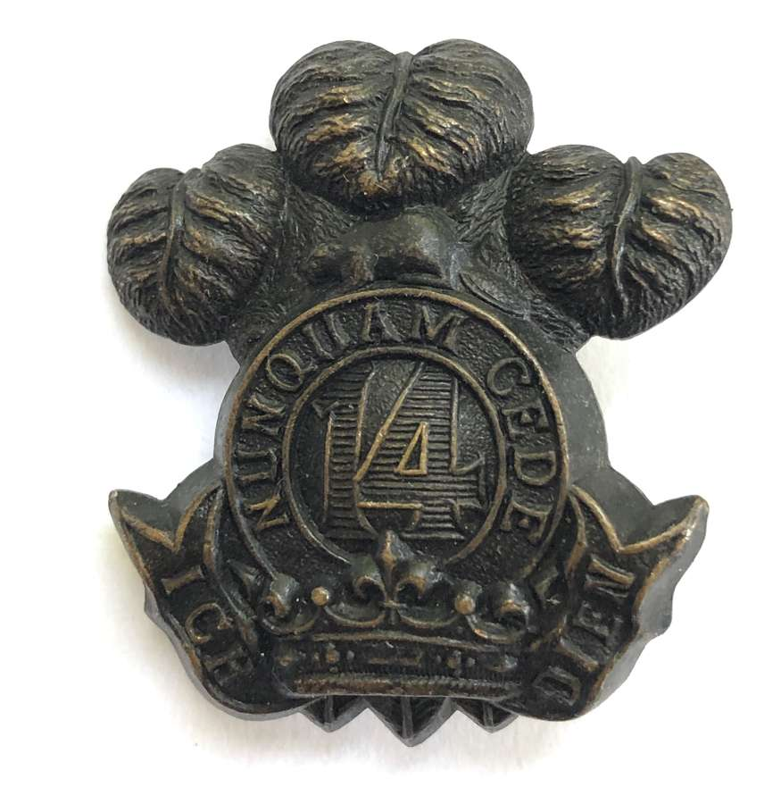 Canadian 14th Princess of Wales's Own Rifles badge circa 1910