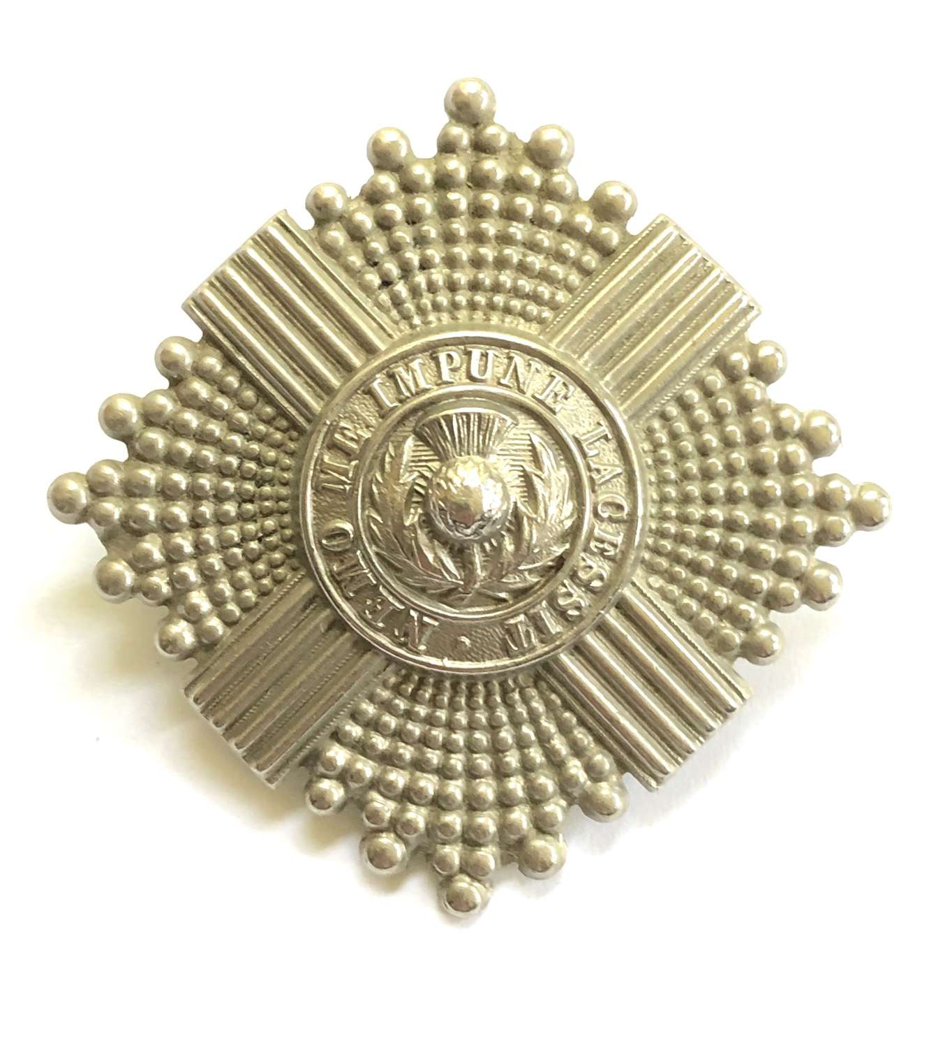 9th (Highlanders) VB Royal Scots OR's glengarry badge circa 1902-08