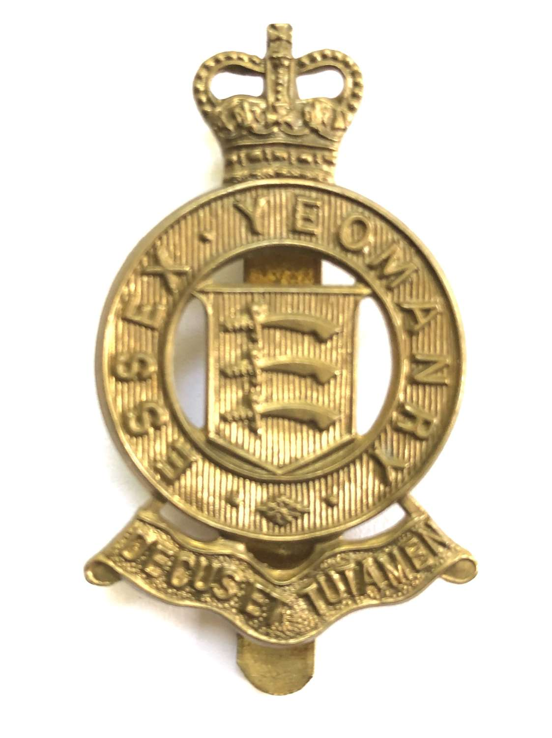 Essex Yeomanry post 1963 brass cap badge
