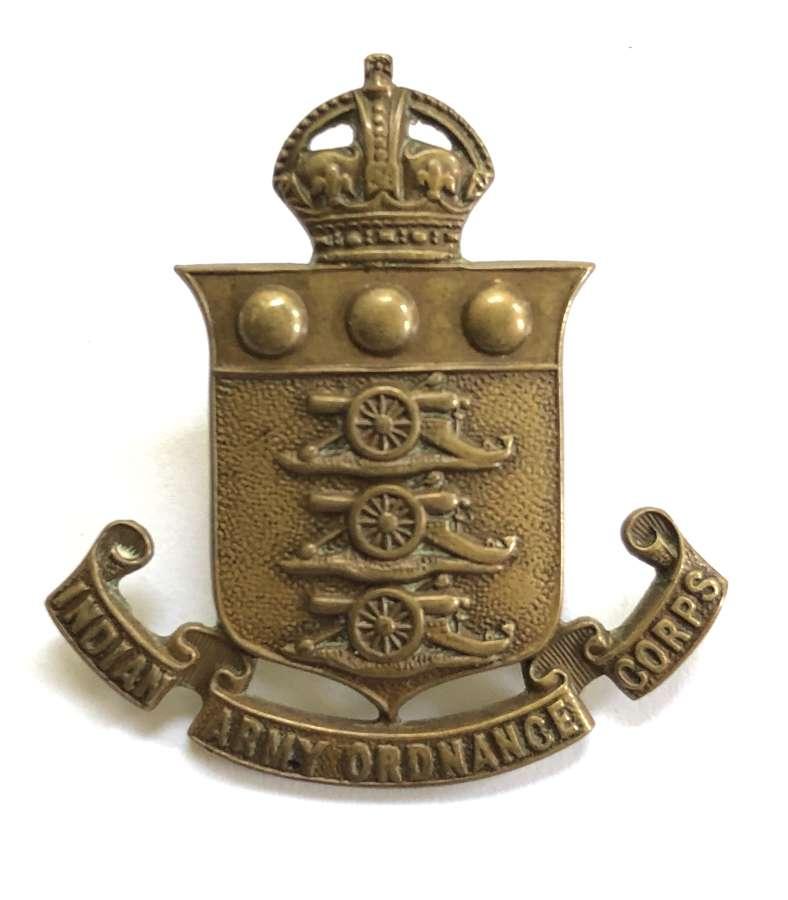 Indian Army Ordnance Corps cap badge circa 1922-47