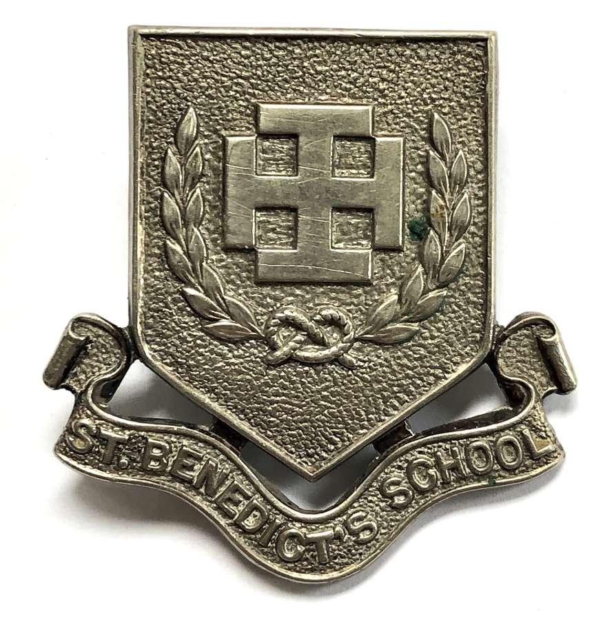 St. Benedict's School (Ealing) OTC silver plated cap badge