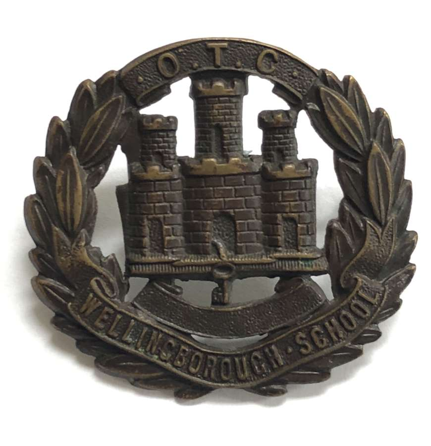 Wellingborough School OTC Northamptonshire cap badge