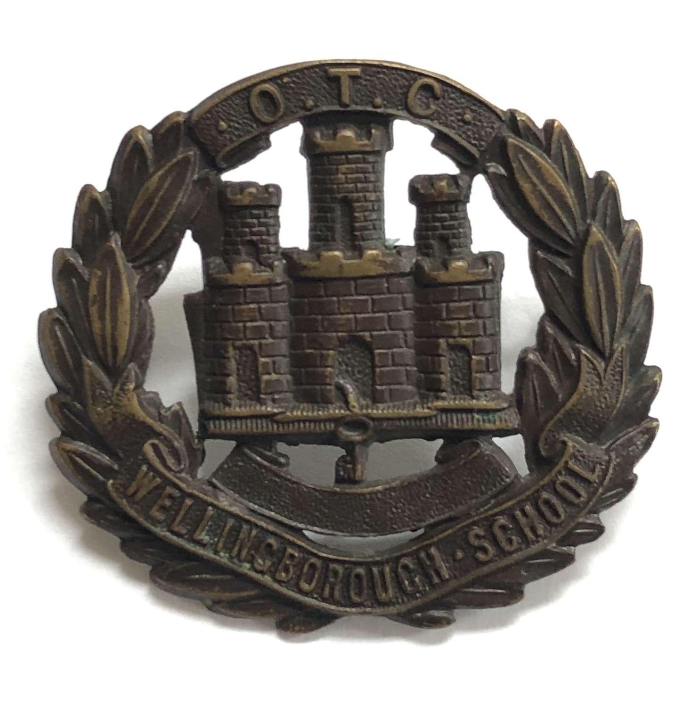 Wellingborough School OTC Northamptonshire cap badge