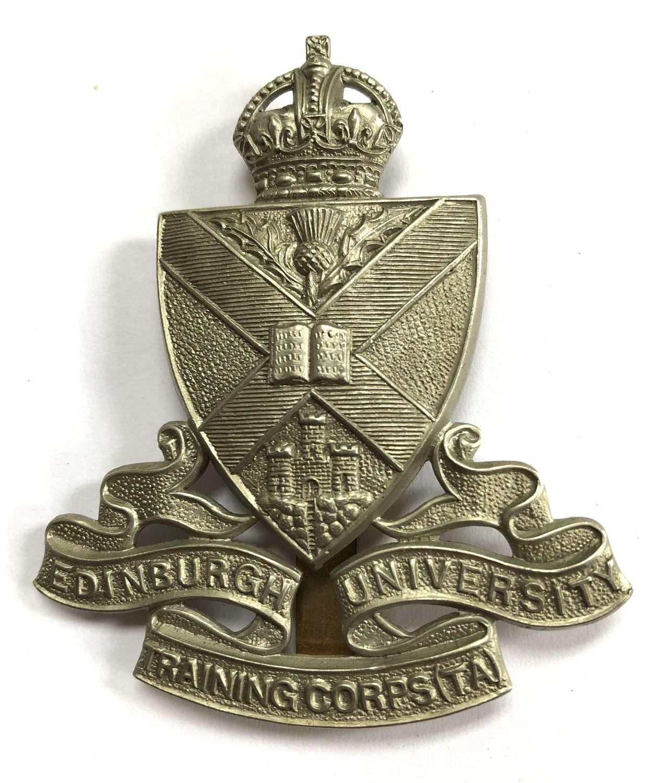 Edinburgh University Training Corps (TA) cap / glengarry badge