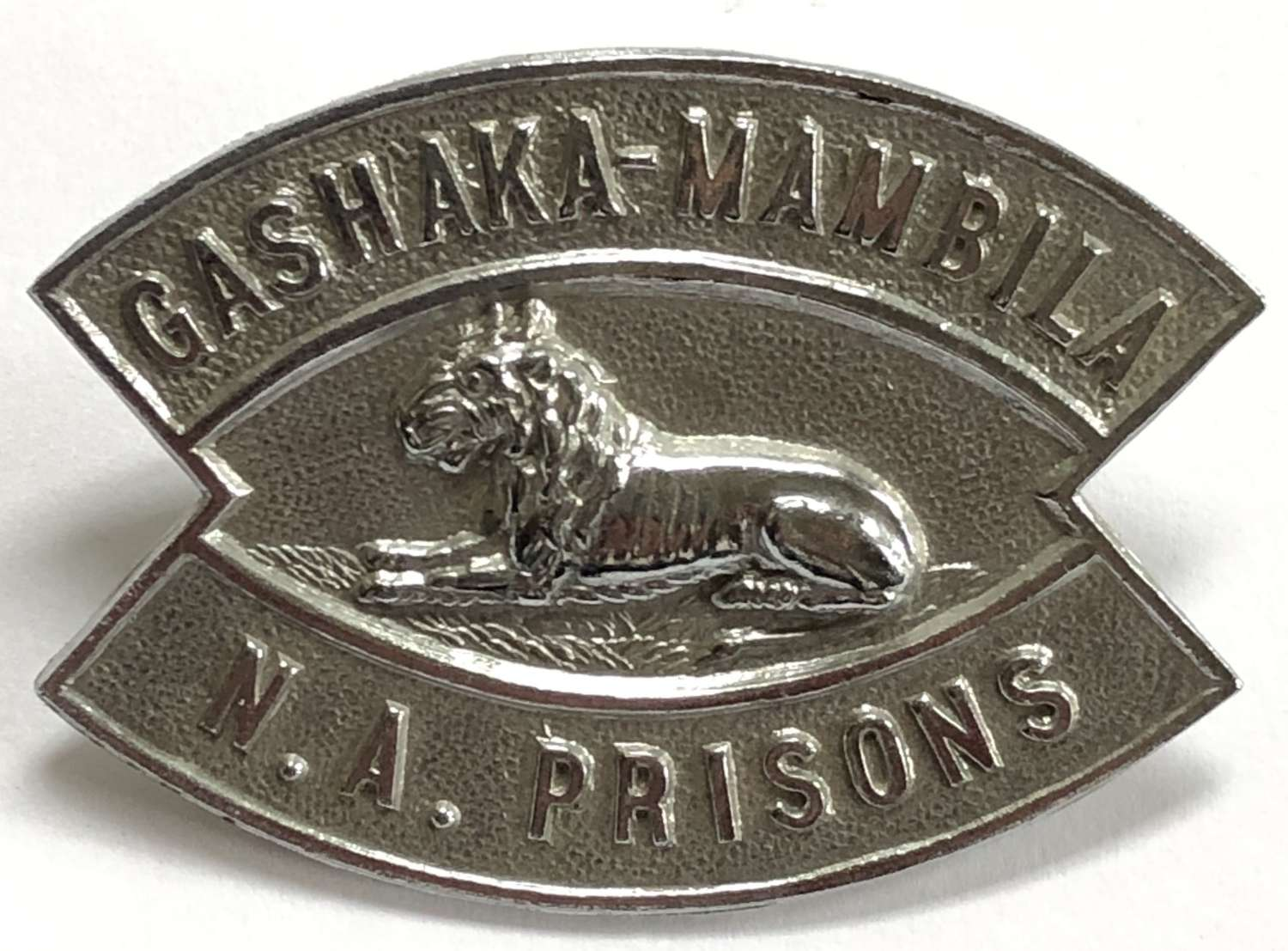 Nigeria. Cashaka-Mambila Native Administration Prisons badge