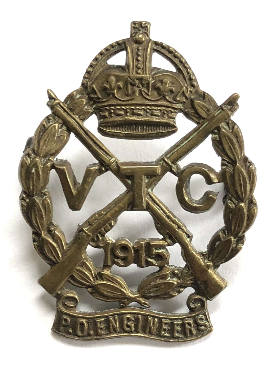 Post Office Engineers 1915 VTC cap badge by Gaunt