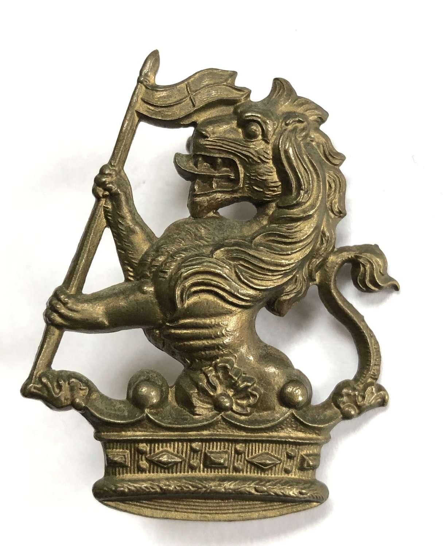 New Zealand 1st Wellington Rifles brass cap badge by Gaunt, London