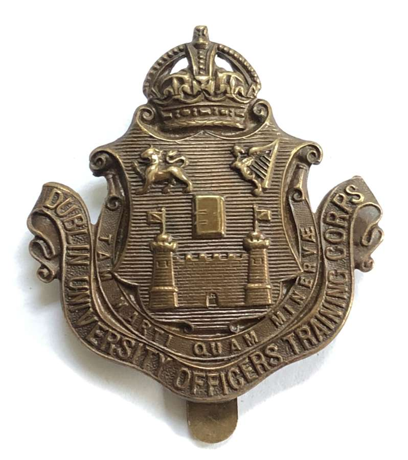 Irish. Dublin University pre 1922 Officers Training Corps cap badge