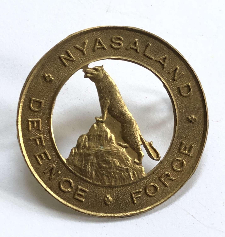 Nyasaland Defence Force WW2 brass cap badge