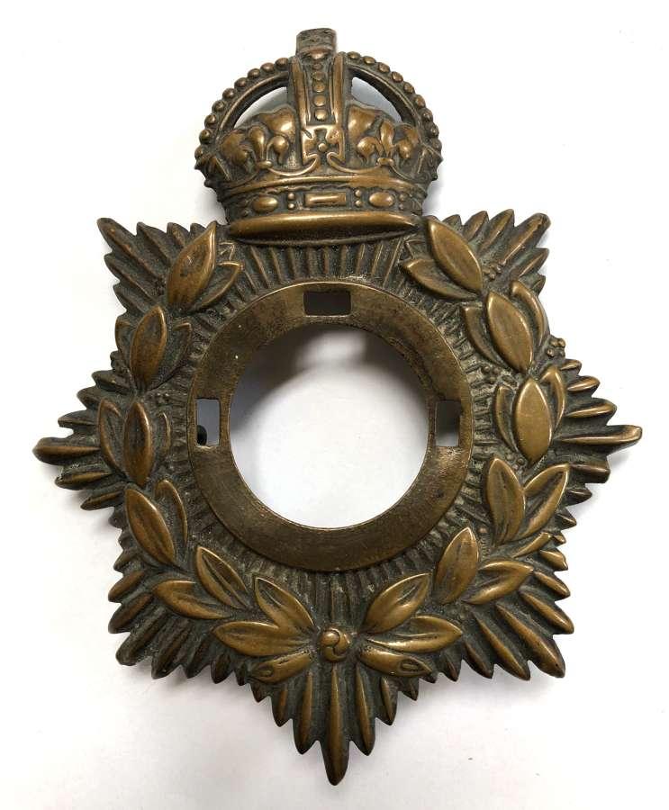 Universal Pattern OR's helmet plate backing star post 1901