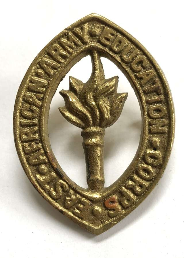East African Army Education Corps WW2 cap badge