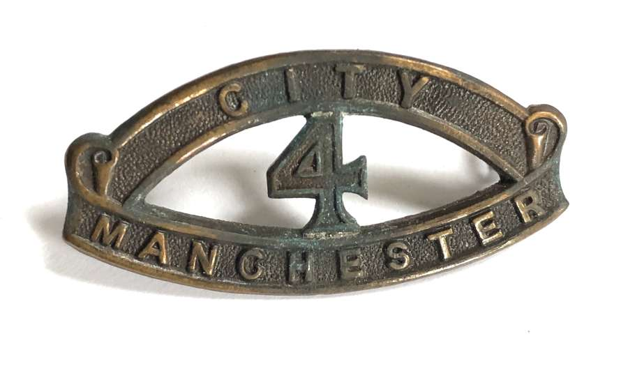 CITY / 4 / MANCHESTER WW1 'Manchester Pals' bronze shoulder title