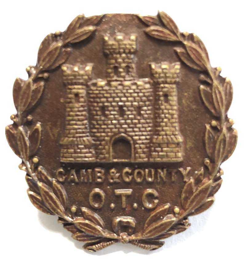 Cambridge & County School OTC cap badge
