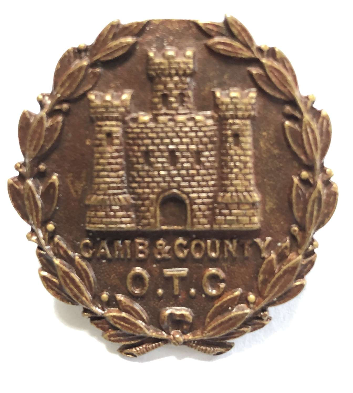 Cambridge & County School OTC cap badge