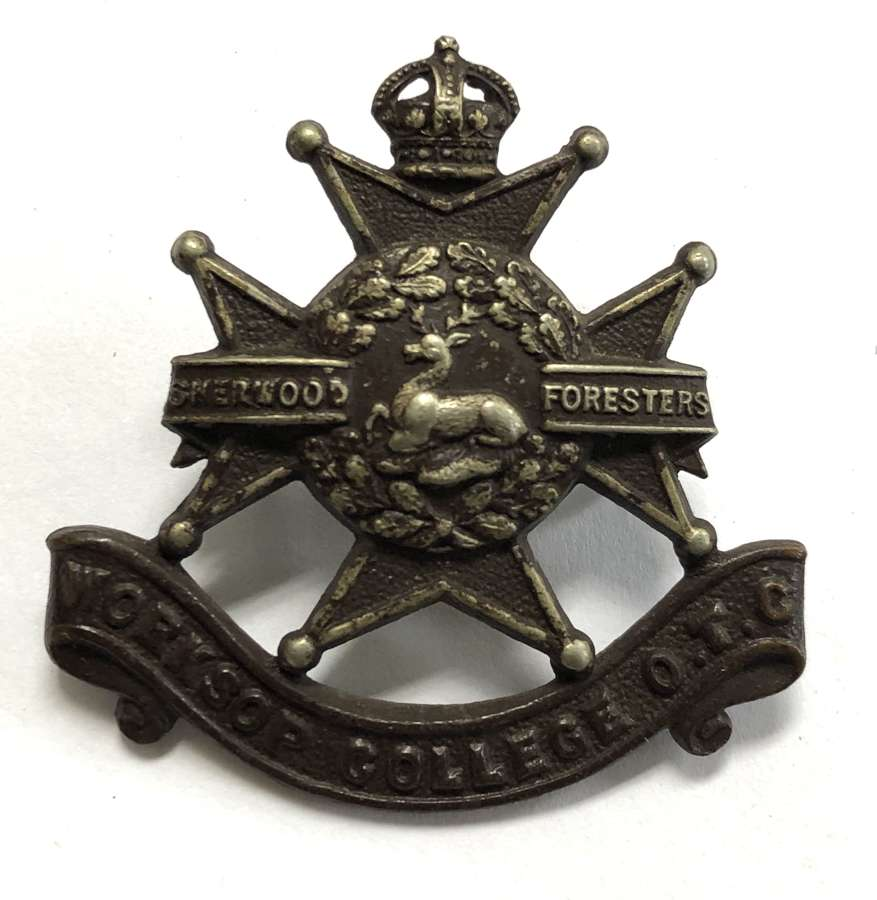 Worksop College OTC Nottinghamshire cap badge
