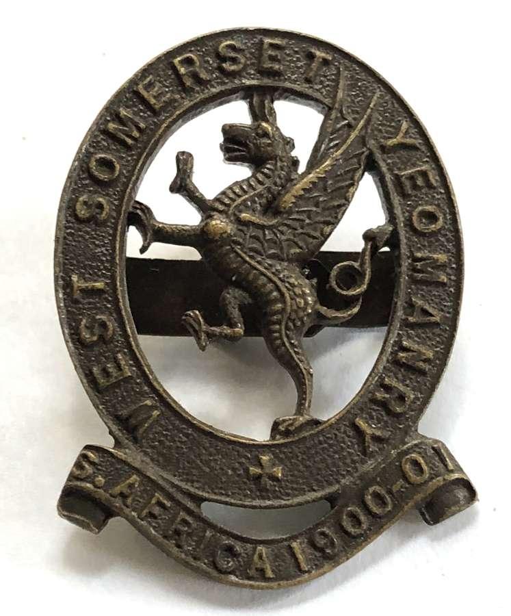 West Somerset Yeomanry OSD bronze badge