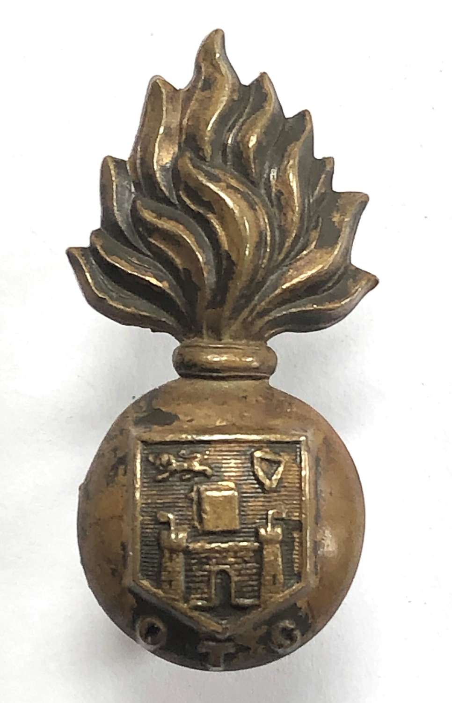 Dublin University OTC OSD bronze field service cap badge c1902-22